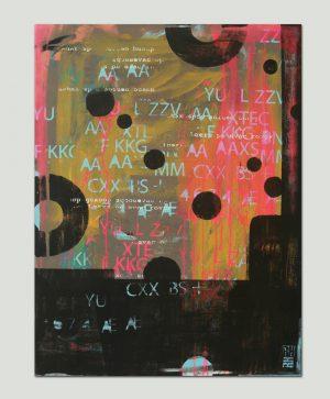 typografisch schilderij