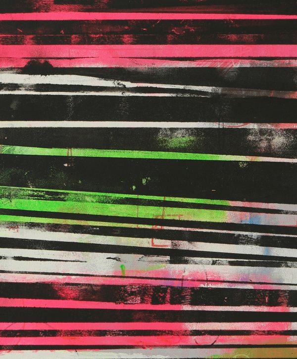 verticaal neon schilderij