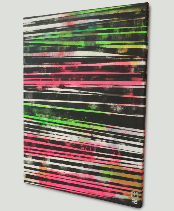 veticaal neon schilderij