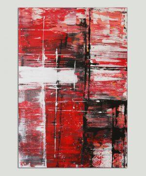 rood modern schilderij