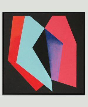 vierkant rood schilderij