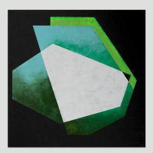 vierkant geometrisch schilderij