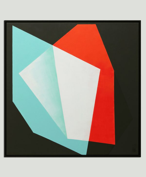 vierkant minimalistisch schilderij