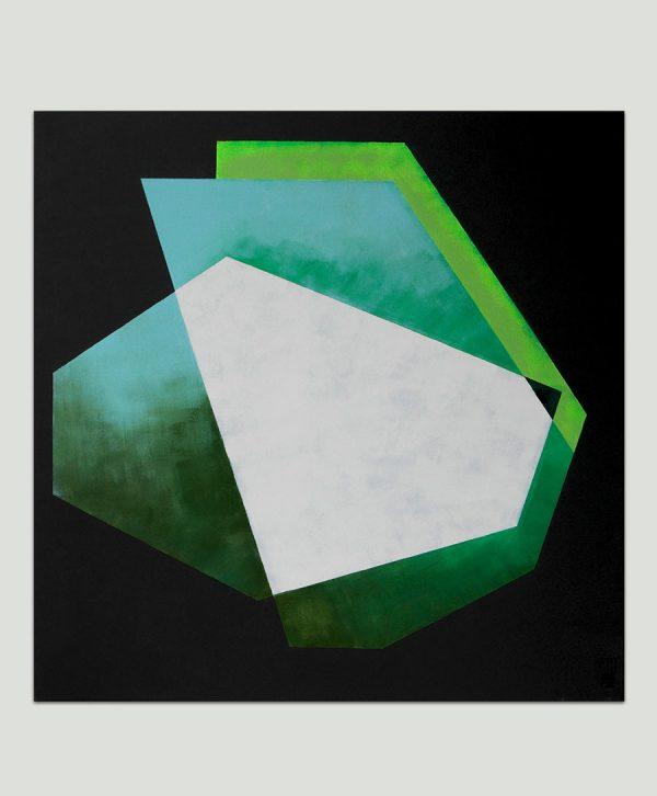 vierkant modern schilderij