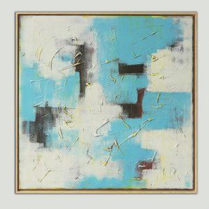 vierkant schilderij met lijst