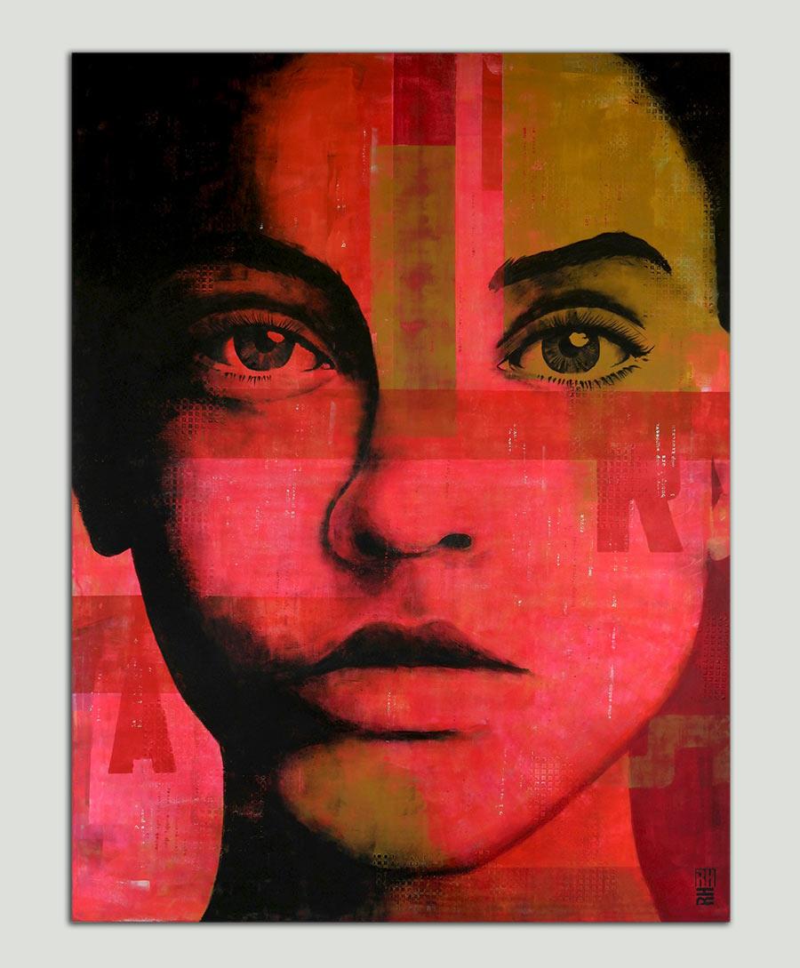 xl pop art portret
