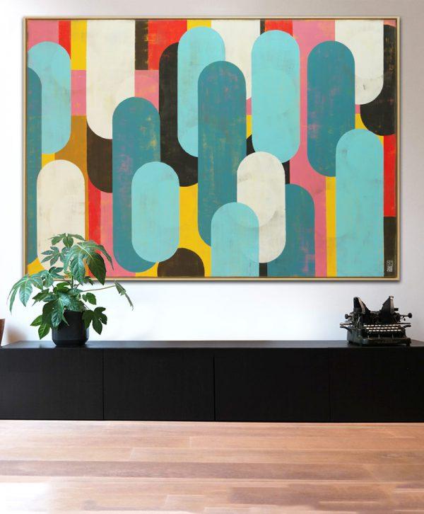xl kleurrijk schilderij