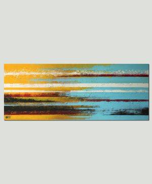 zonnig landschap schilderij