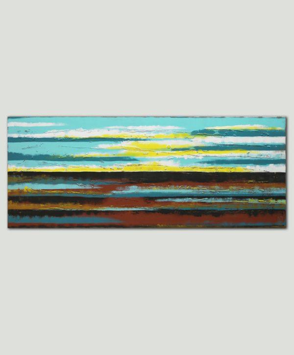 zonsondergang schilderij