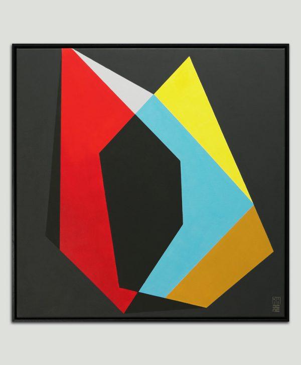 zwart geometrisch schilderij